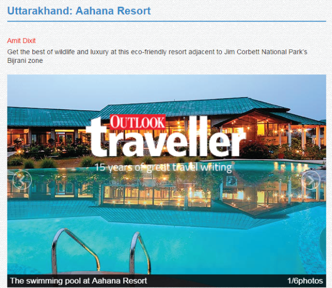 responsible tourism aahana resort corbett