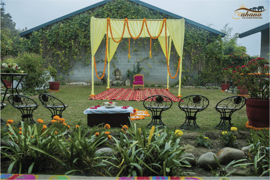 destination wedding haldi ceremony